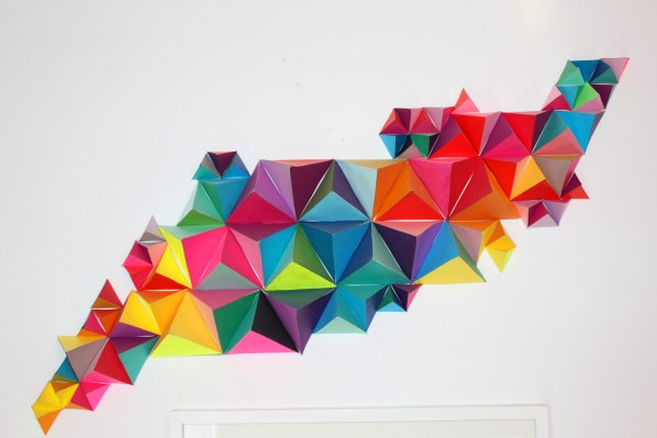 3D Geometric Wall Sculpture-sm
