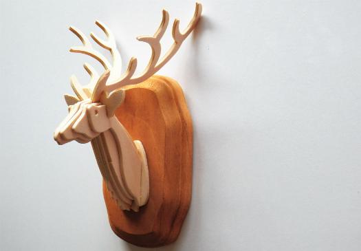 deer bust post topper