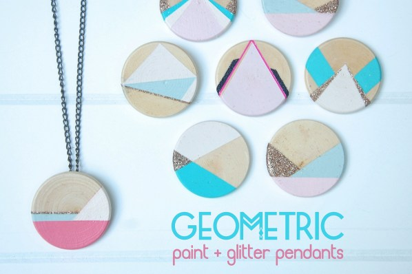 Gemetric glitter pendants