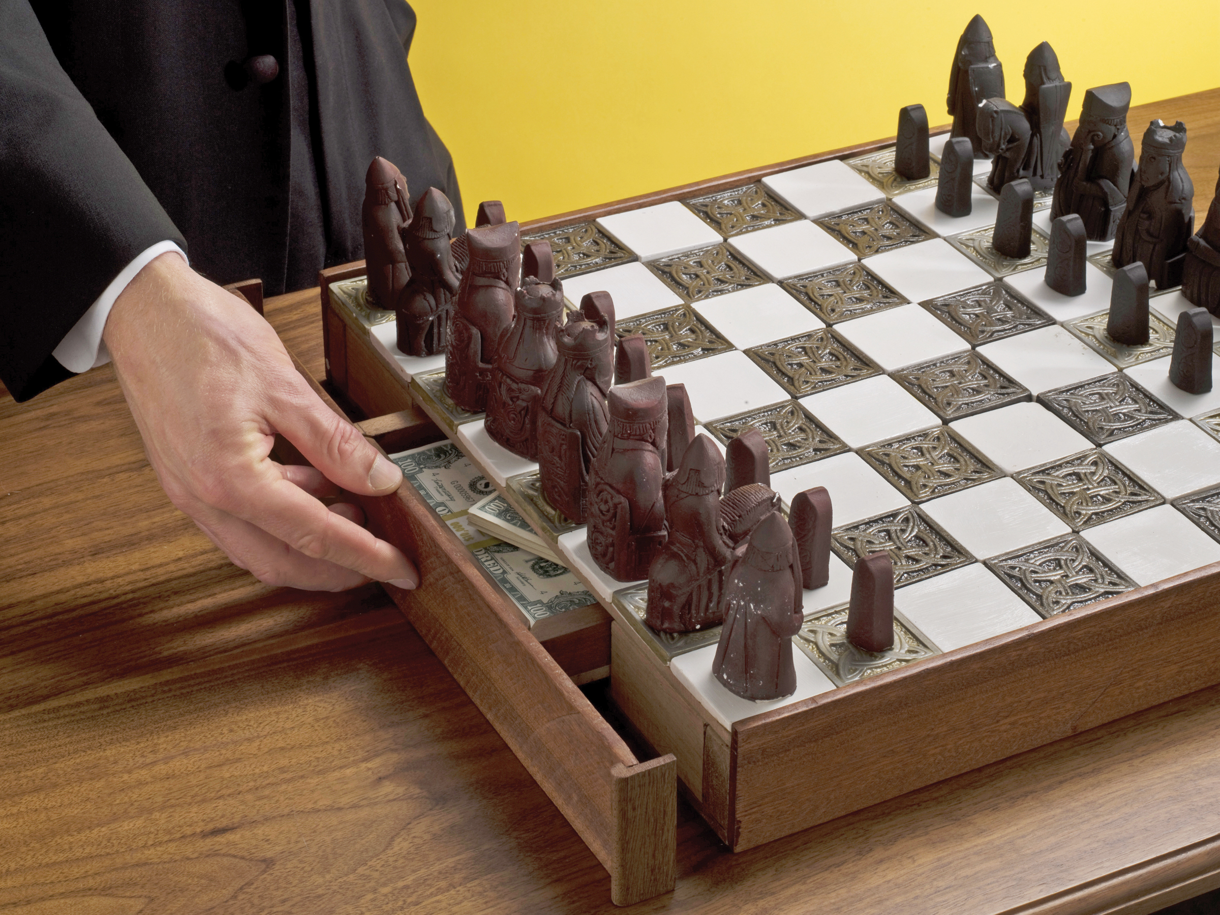 Diy Wood Chess Board Secret Chessboard Compartment Make