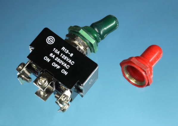 "Toggle switch with ""boot"""
