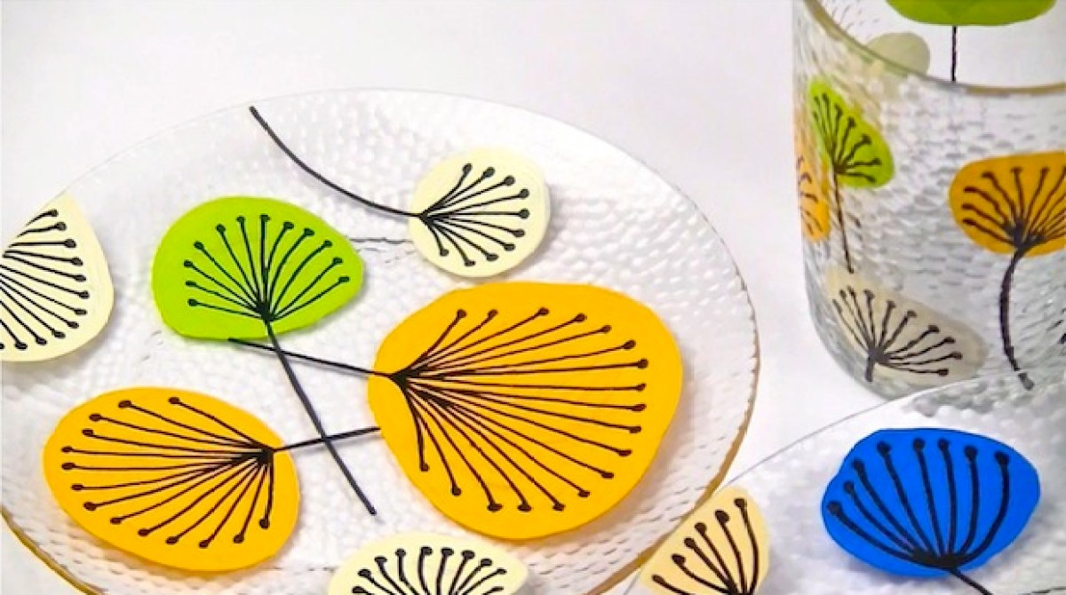 how to permanently paint glass dishes make