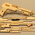Worlds first rubber band shotgun kit with 3 modes of firing.