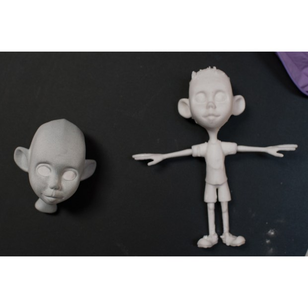 3D printed prototypes of Toby.