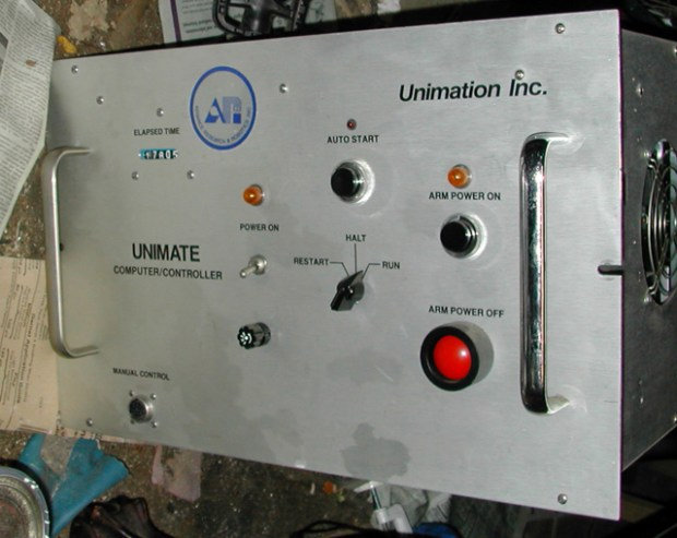 The original PUMA controller's front panel