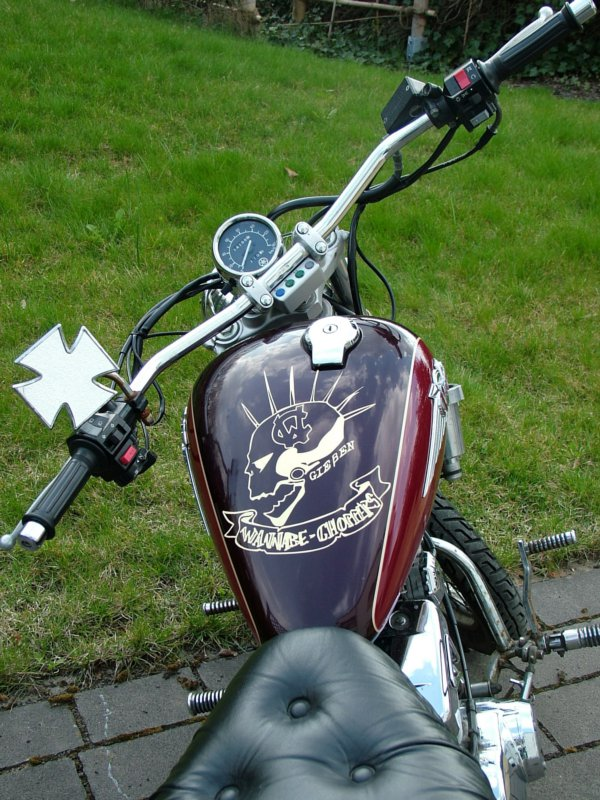 The Wannabe-Choppers Virago.