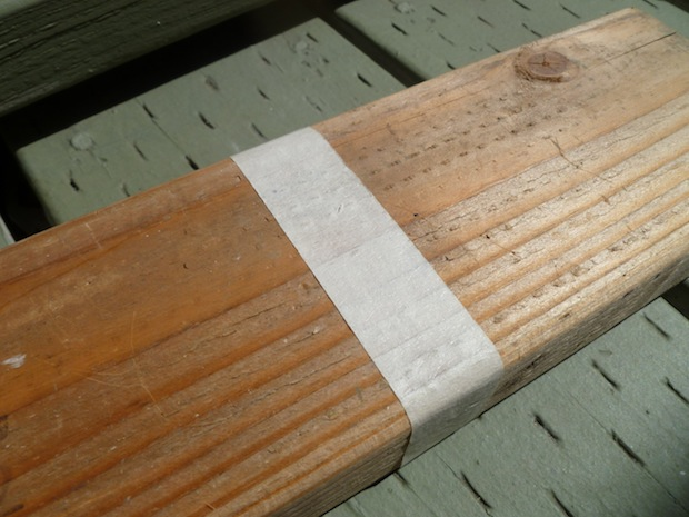 If you want a clean cut when using a circular or table saw, put some masking tape along the part where the blade pokes out. It prevents chips and splinters.