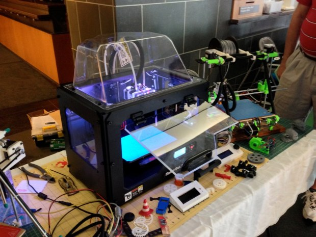 Lots of 3D printers, including this Makerbot Replicator 2X