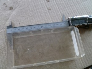Use the calipers to get the measurement for the length of the original drawer.