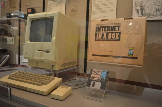 The Internet in a Box is a throwback to the 1990s and  informs how rapidly technology changes.