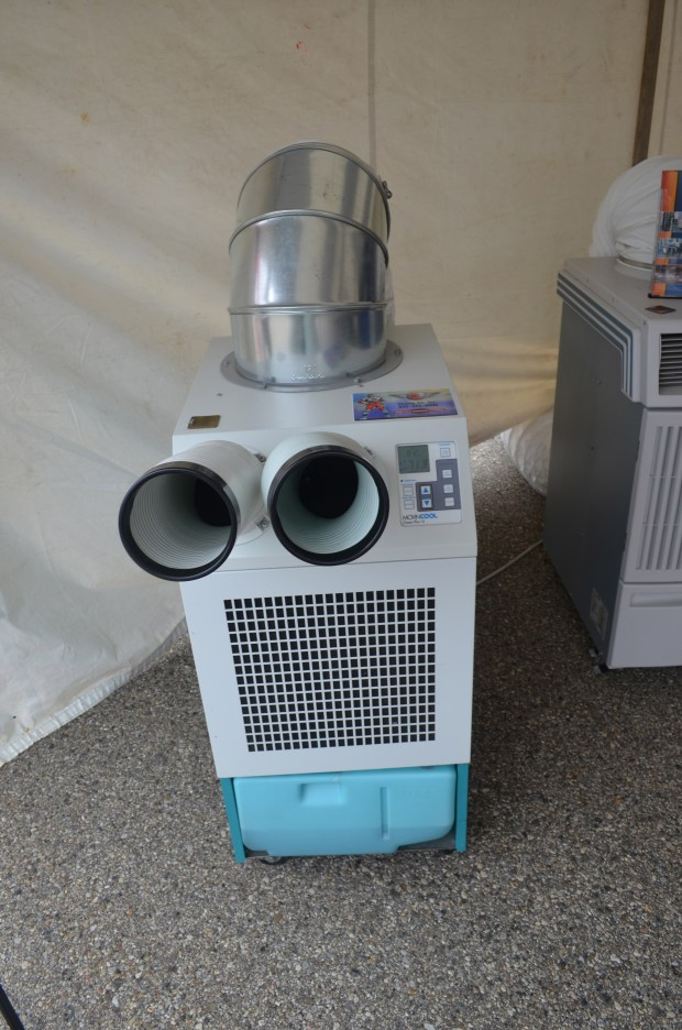 This might look like WALL-E, but it is actual a portable air conditioning unit from that is often used in data centers to cool rackmount servers.