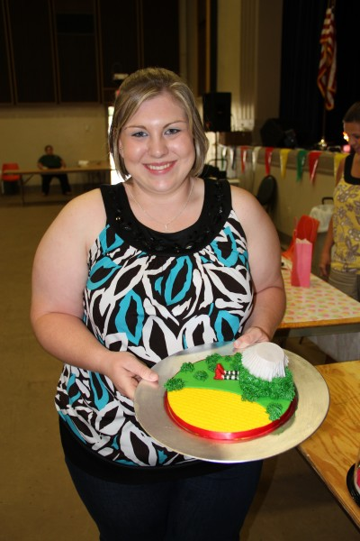 Whitney Roberson shows off her first-place decorated cupcake, which was entered into our cupcake contest.