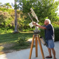 David Pevear with his DIY telescope (Photo credit: Andrew Terranova)