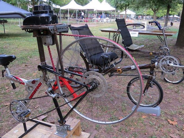 Home built bicycles that break tradition. Bicycle blender? Why not?