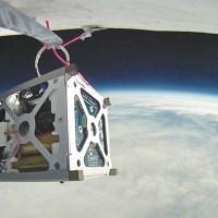 PhoneSat 1.0 during a high-altitude balloon test.