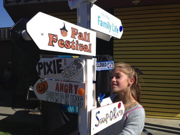 The quintessential Faire signs showing something for everyone.