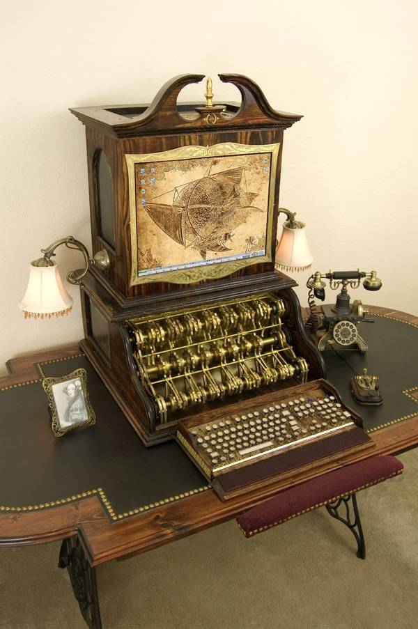 Datamancer's steampunk desktop