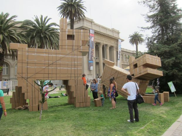 Giant cardboard dogs by Pablo Curutchet