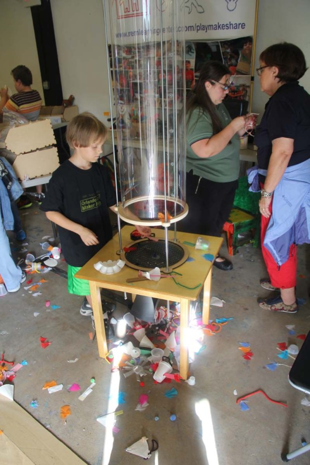 The REM Learning Center lets kids make and explore flying shapes.