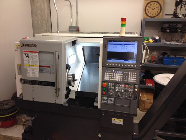 A brand, shiny new CNC Lathe.
