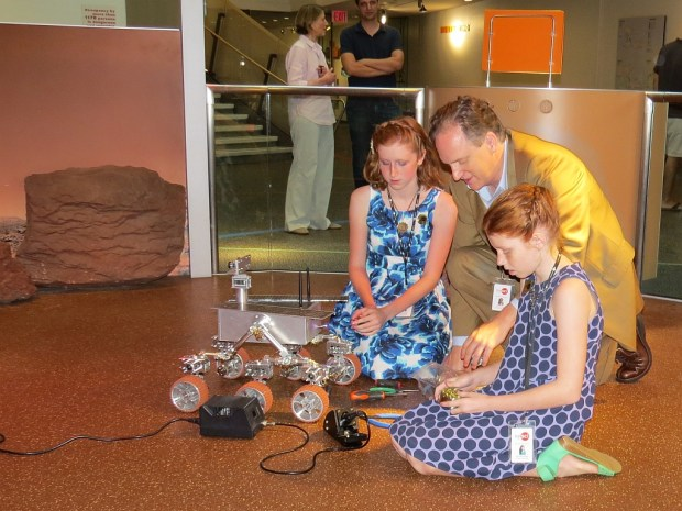 Read more >> Family builds museum quality Mars rover.