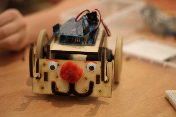 The awwww factor may be a useful weapon in the SumoBot competition...