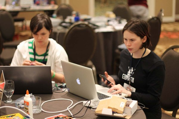 Lots of leaning and hacking happening at RobotsConf.