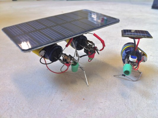 Make a BEAM Vibrobot or link two bots together with one more powerful solar cell!  Click here to build this bot.