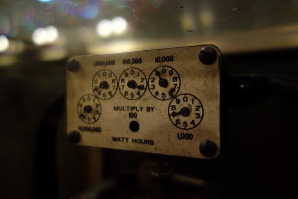 Watt hours dials