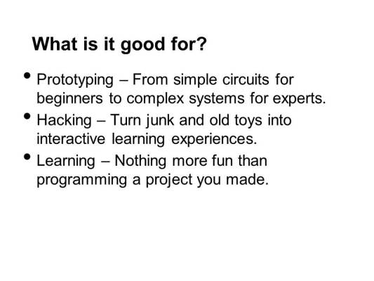 Getting Started with Arduino WorldMF13-Slide02