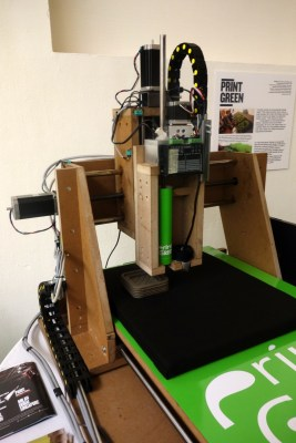 The Print Green machine made by University of Maribor students was also on display.