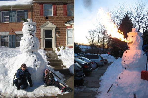 Fire-breathing snowman.