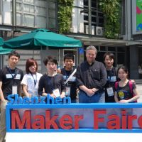 Dale with some of the organizers from Maker Faire Shenzhen