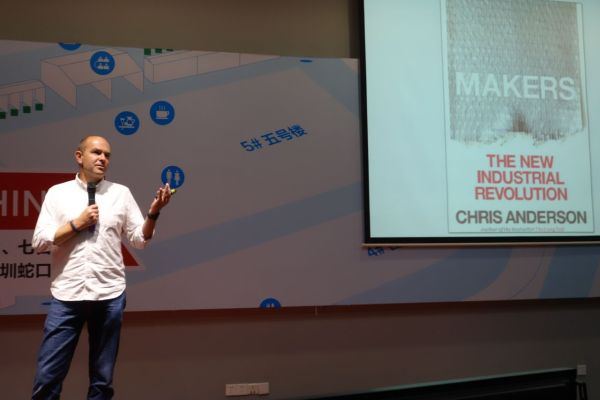 Chris Anderson spoke about makers and 3D Robotics.