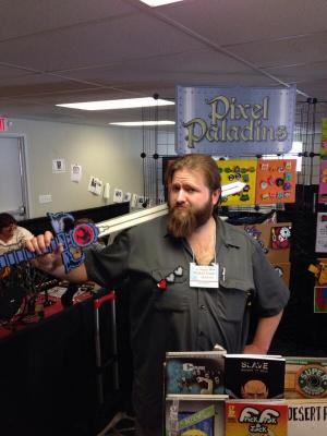 Justin from Pixel Paladins shows off one of his creations, the Sword of Omens from ThunderCats.