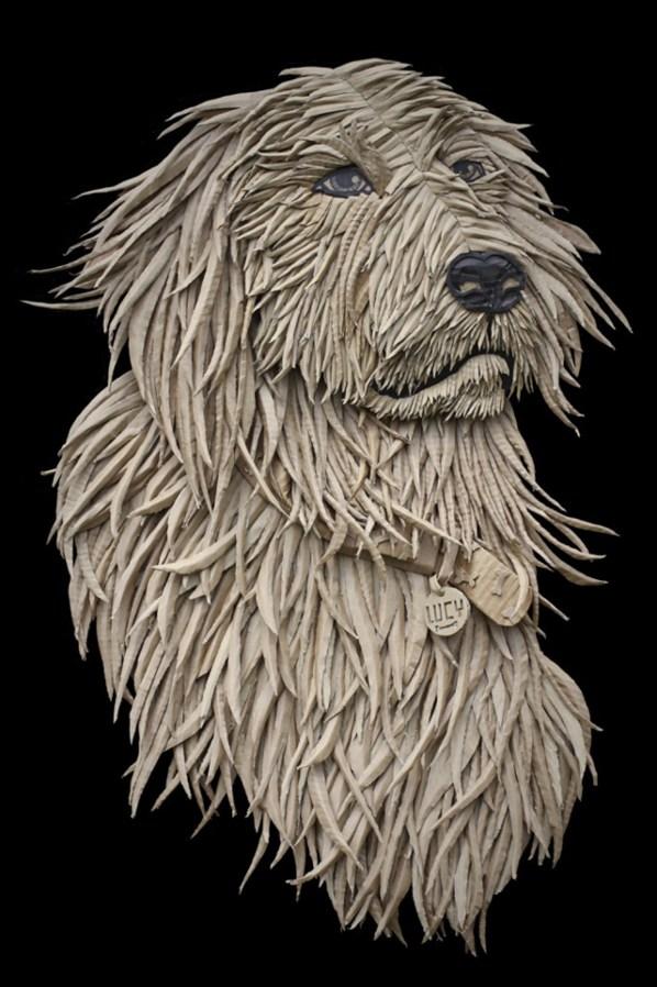 recycled-cardboard-dog-portrait-1