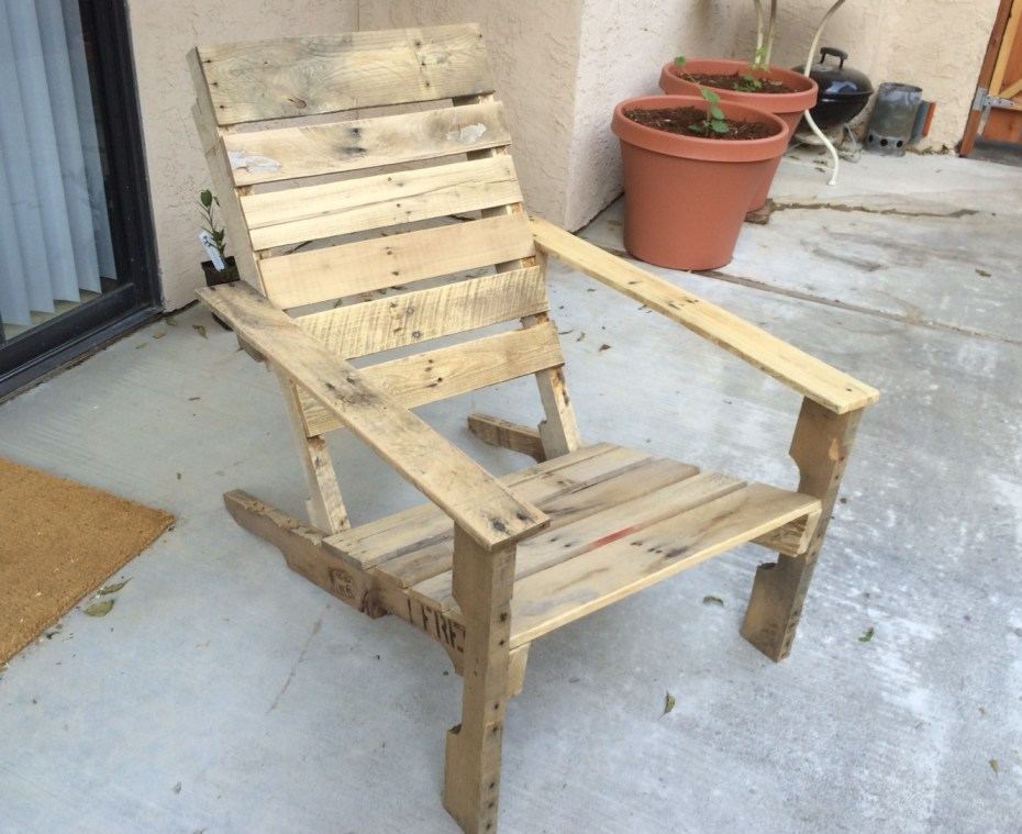 Wooden Pallet Patio Chairs Make