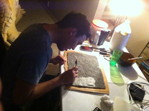 Sean hard at work