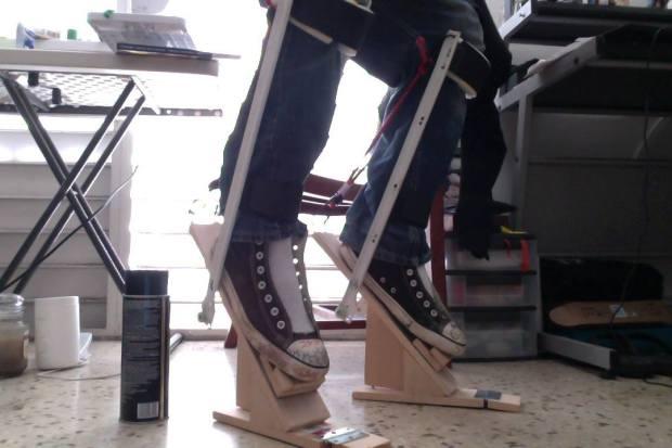 Home made digitigrade stilts