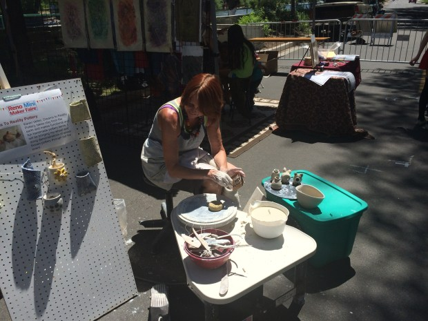 Dreams to Reality Pottery does a live demo