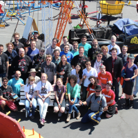 All the Kickstarter project creators at Maker Faire. Photo via Julio Terra.