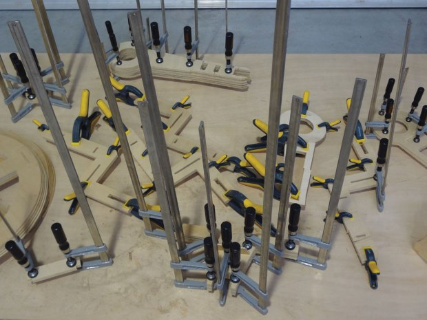 Clamped pieces