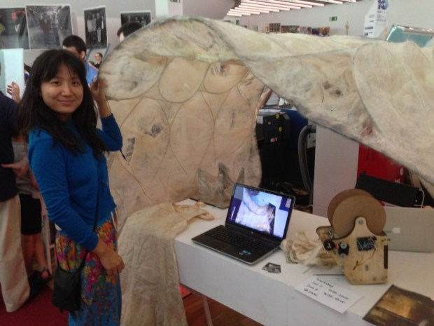 Jin Shihui and the Stigmergic Fibers Team's sprayed-felt tent
