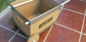 5-Minute Cardboard Wheelbarrow