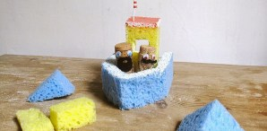 DIY Sponge Boat Toy