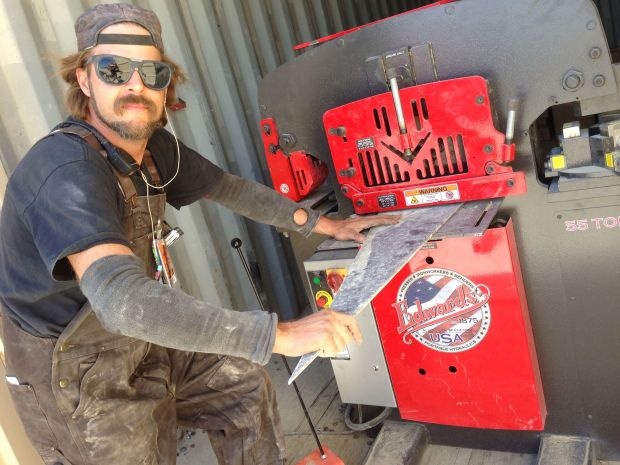 Burning Man metal shop even has an Edwards ironworker