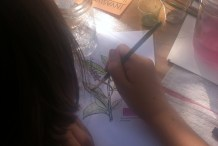 Painting with Plants Found Growing Wild on the Maker Faire Grounds