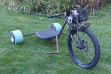 Allan's Motorized Rat Rod Drift Trike