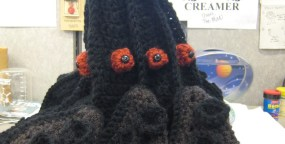 Crocheted Darkmantle Hat