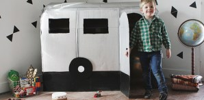 How-To: Cardboard Airstream Camper Playhouse